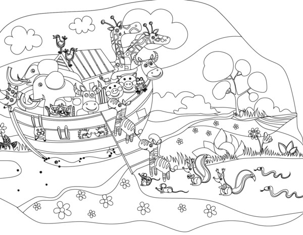 Best ideas about Noah'S Ark Free Coloring Pages . Save or Pin FREE Noah s Ark Coloring Page – Children s Ministry Deals Now.