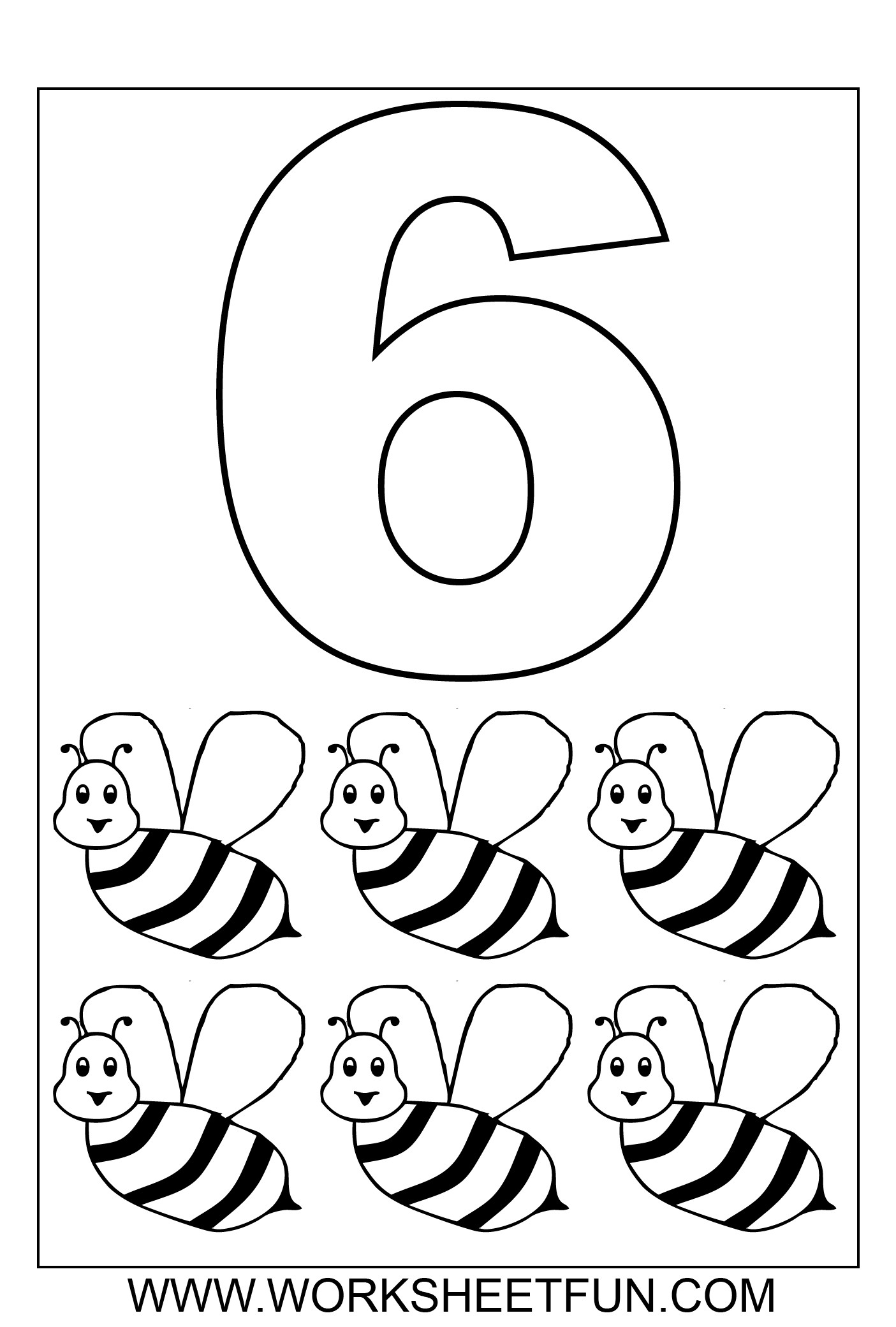 Numbers Coloring Pages  Number Coloring Pages 1 – 10 Worksheets FREE Printable