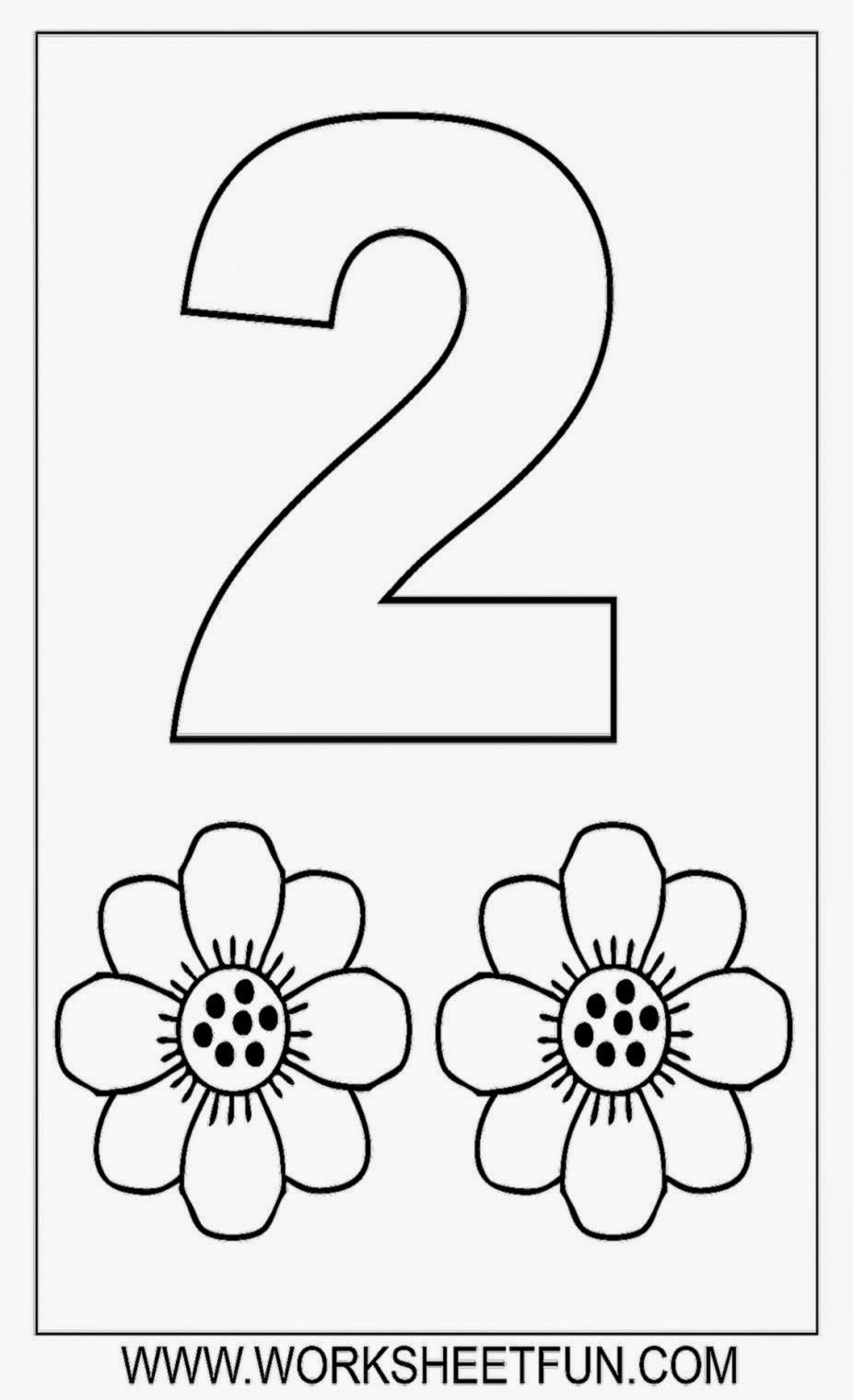 Numbers Coloring Pages  Printable Color By Number Sheets