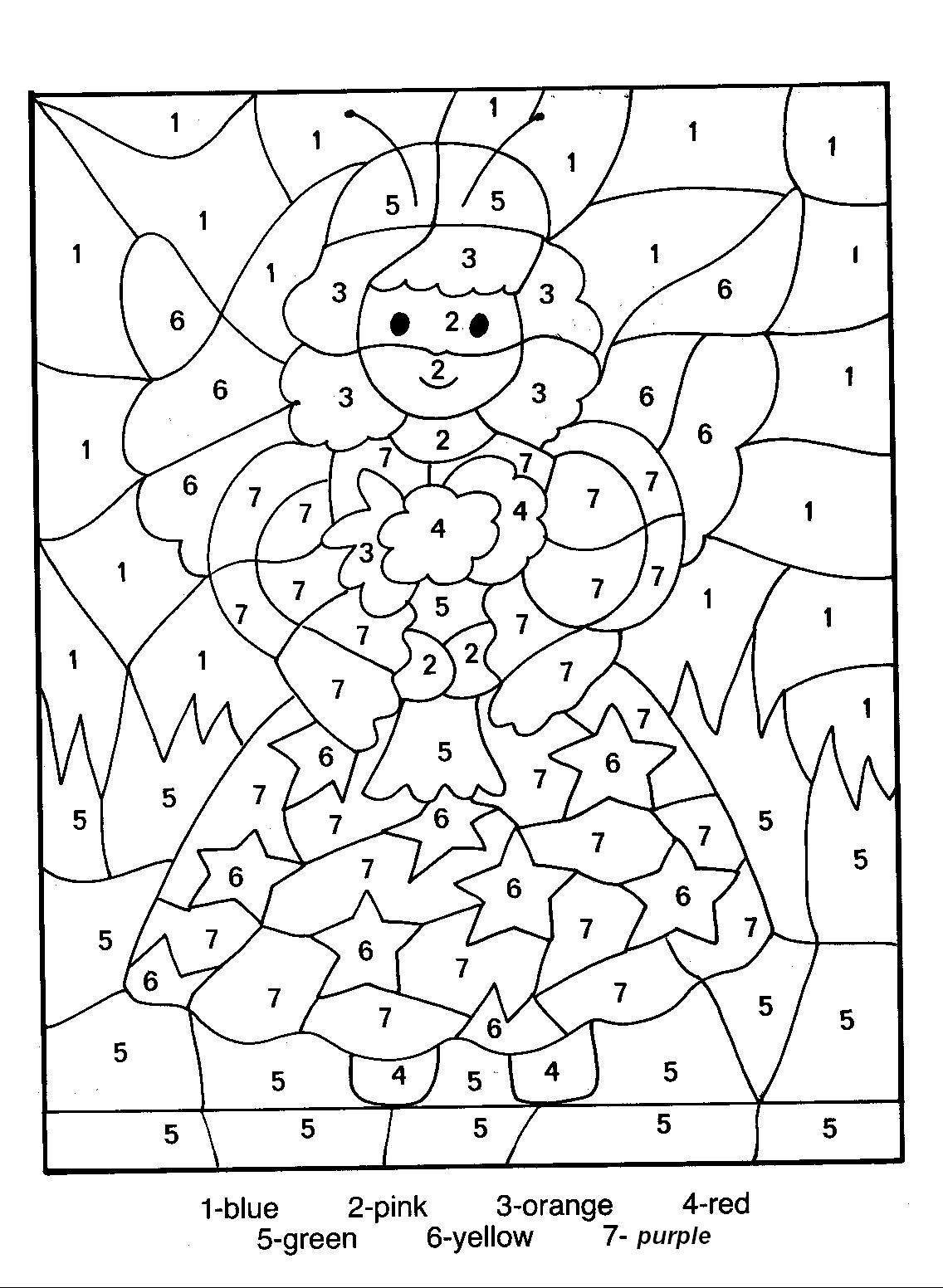 Numbers Coloring Pages  Printable Color Number Coloring Pages Then Stunning