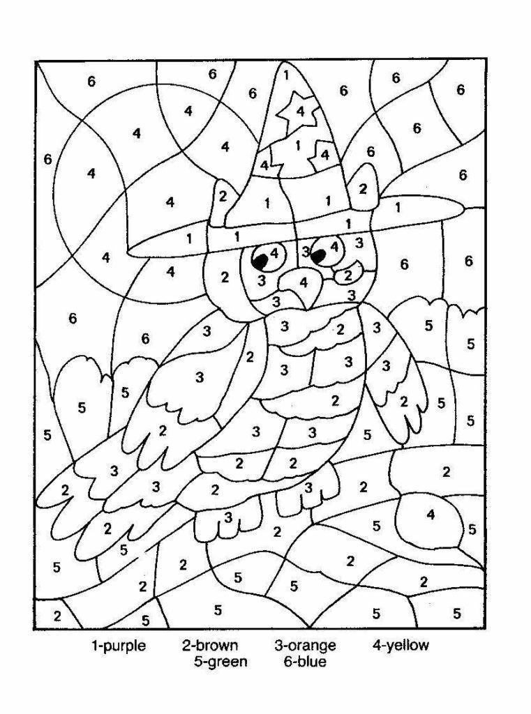 Numbers Coloring Pages  Difficult Color By Number Printables Coloring Home