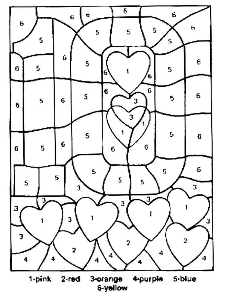 Numbers Coloring Pages  Free Printable Color by Number Coloring Pages Best