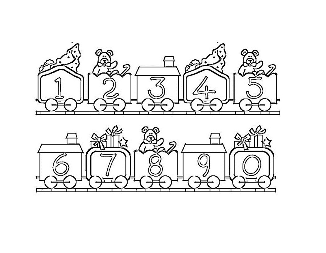 Numbers Coloring Pages  Free Printable Number Coloring Pages For Kids