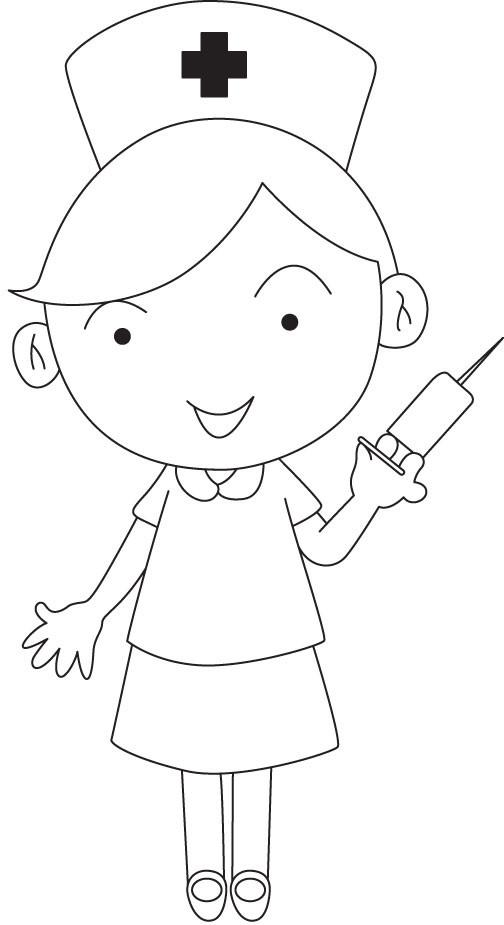 Nurse Coloring Pages For Kids  Printable Nurse Coloring Pages