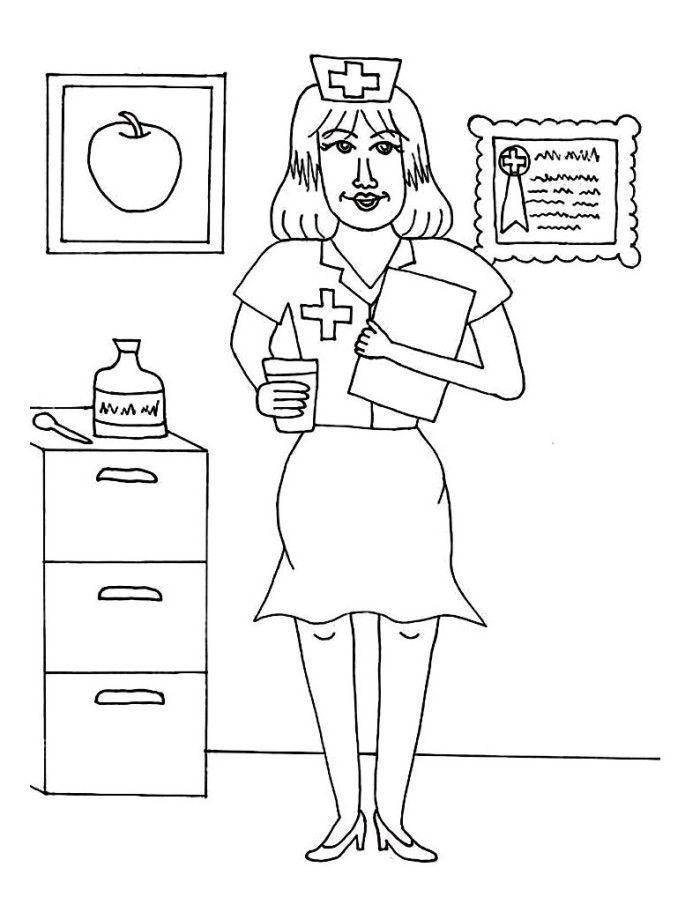 Nurse Coloring Pages For Kids  Nurse Coloring Pages Best Coloring Pages For Kids