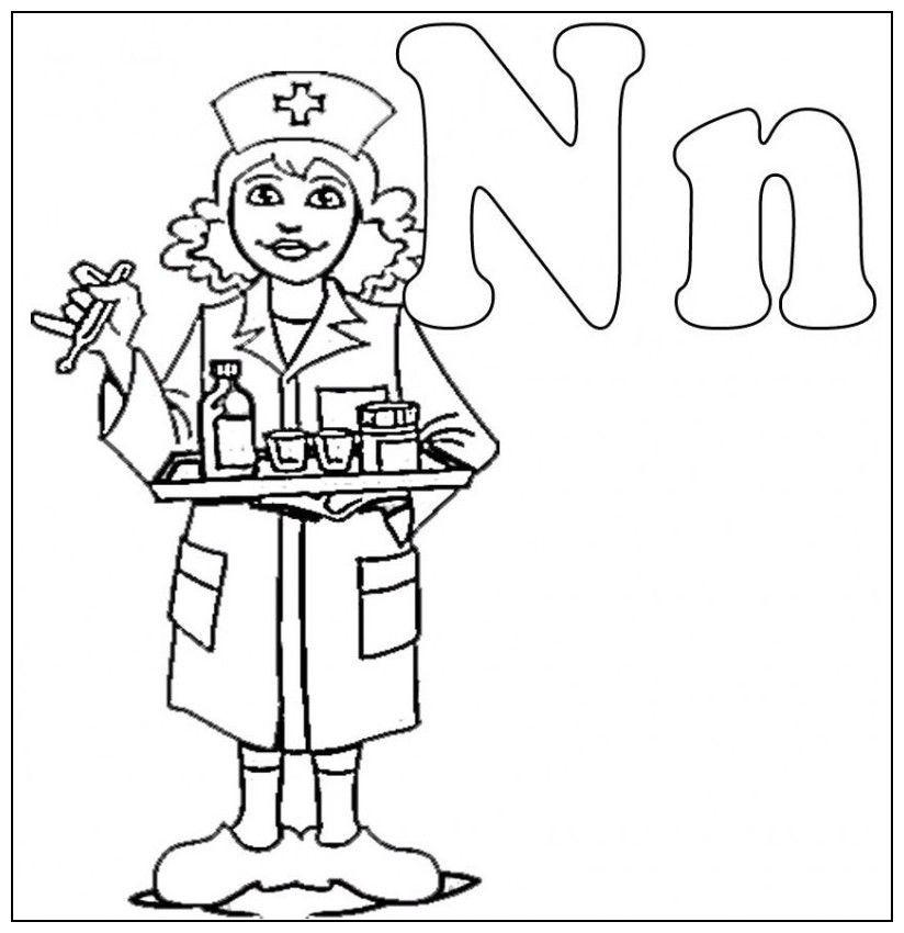 Nurse Coloring Pages For Kids  Nurse Coloring Pages Kids Coloring Home