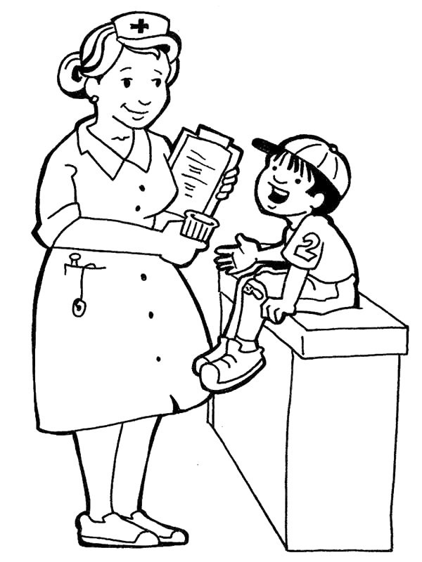 Nurse Coloring Pages For Kids  Nurse For Kids Cliparts