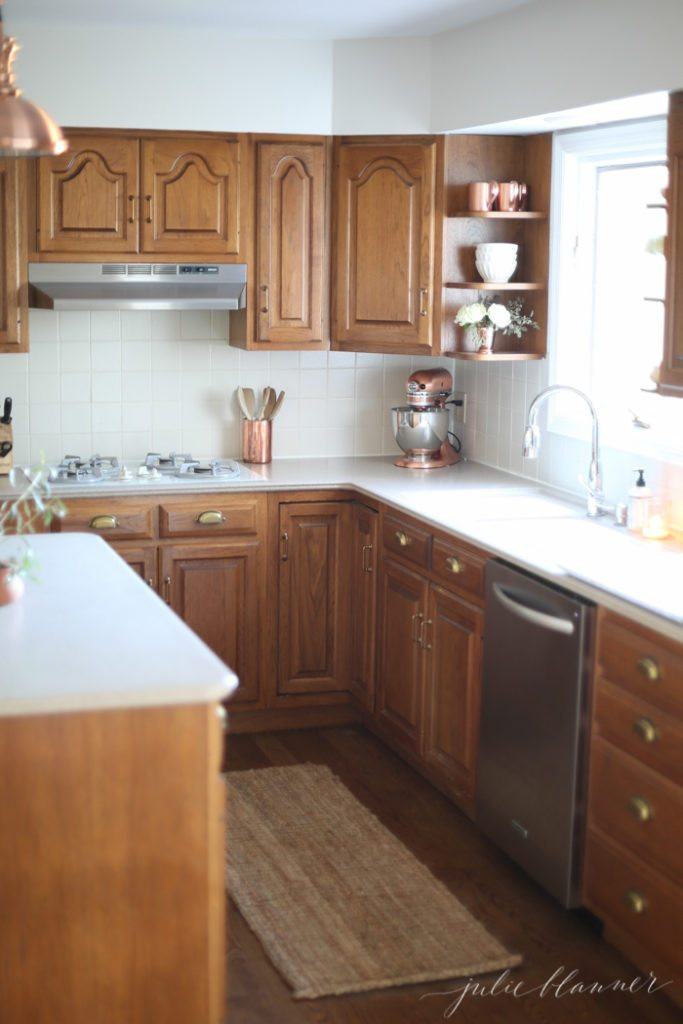 Best ideas about Oak Cabinets Kitchen Ideas . Save or Pin 5 Ideas Update Oak Cabinets WITHOUT a Drop of Paint Now.