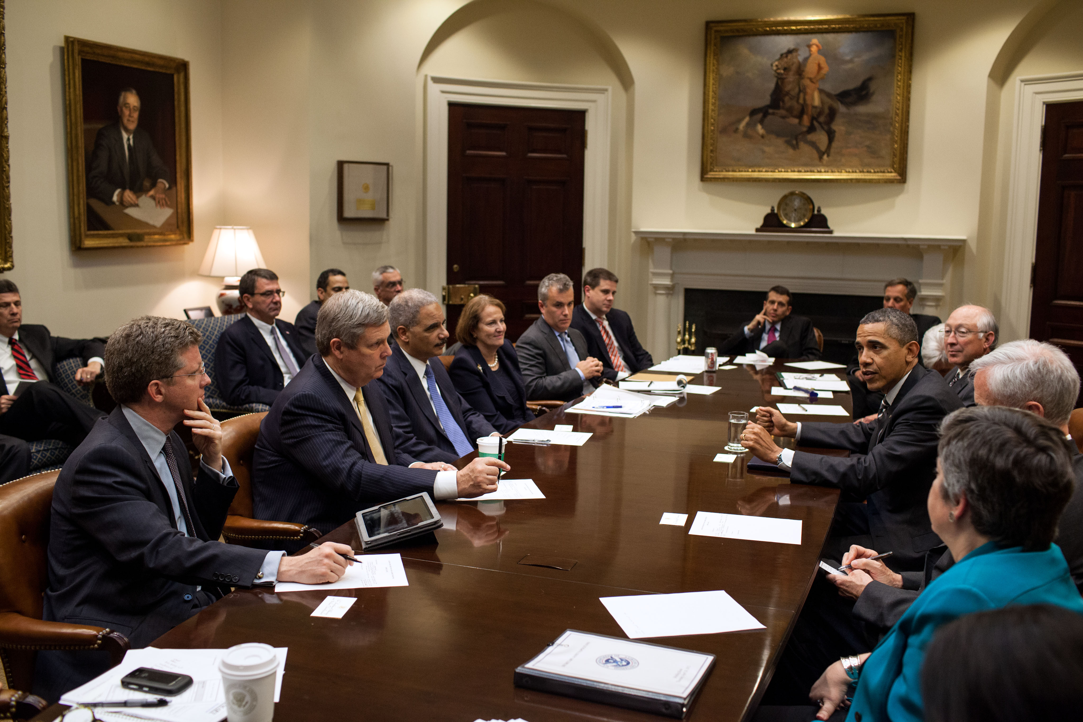 Best ideas about Obama Cabinet Members . Save or Pin File Barack Obama drops by a meeting with Cabinet members Now.