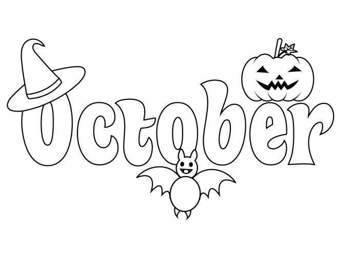 October Coloring Pages For Kids  Free Coloring Pages For Kids and Adults