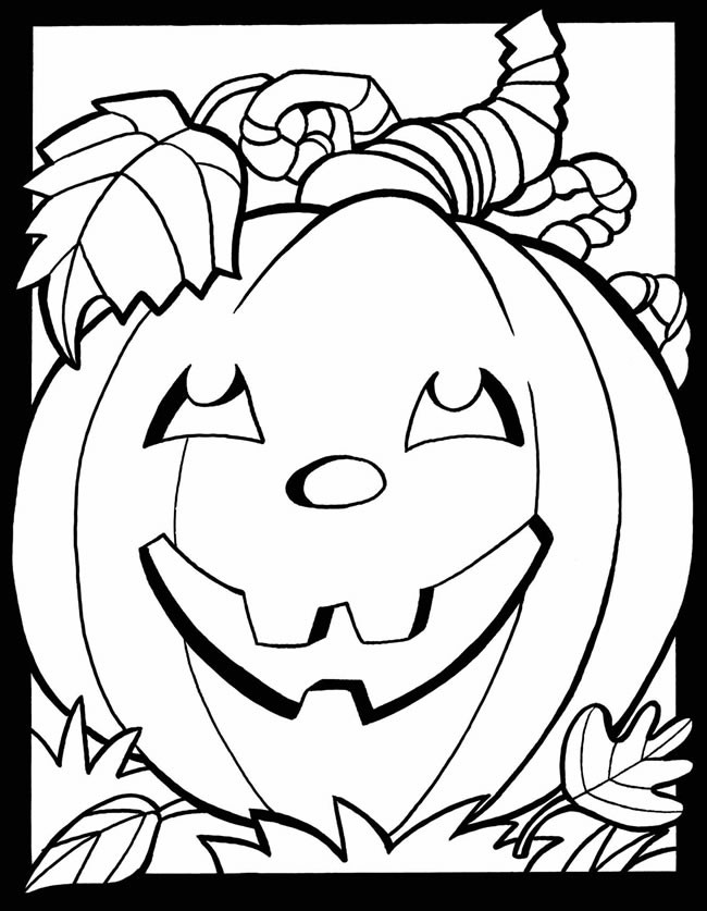 October Coloring Pages For Kids  Waco Mom Free Fall and Halloween Coloring Pages