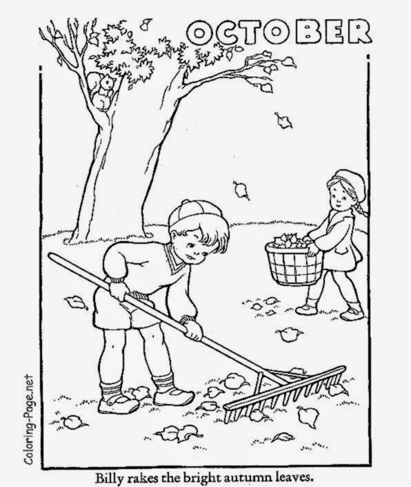 October Coloring Pages For Kids  October Coloring Sheets