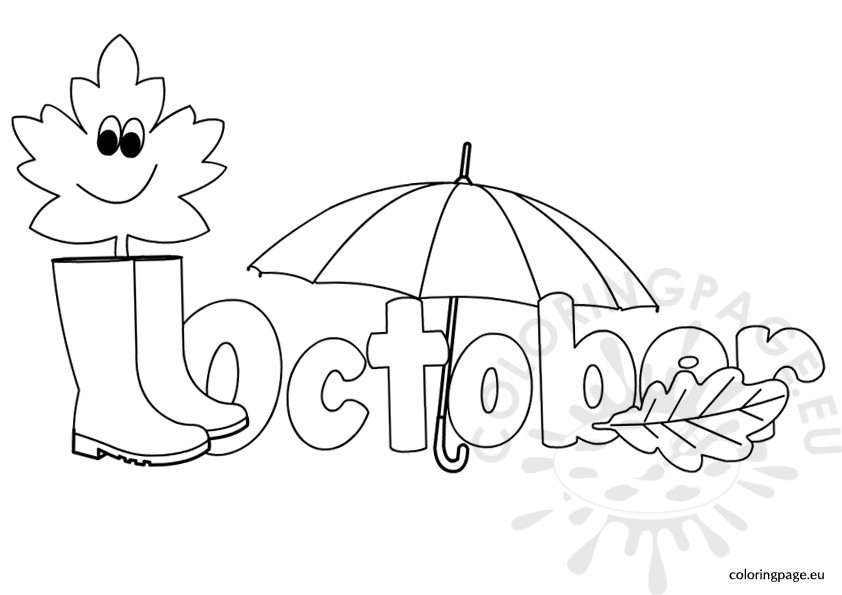 October Printable Coloring Pages  October coloring page