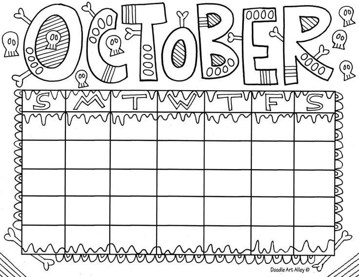 October Printable Coloring Pages  october Coloring page Preschool Crafts