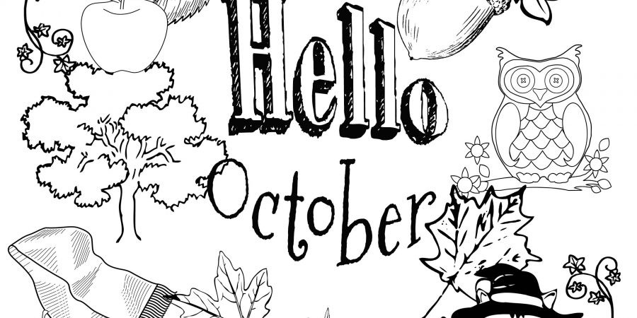October Printable Coloring Pages  October Coloring Pages To Print