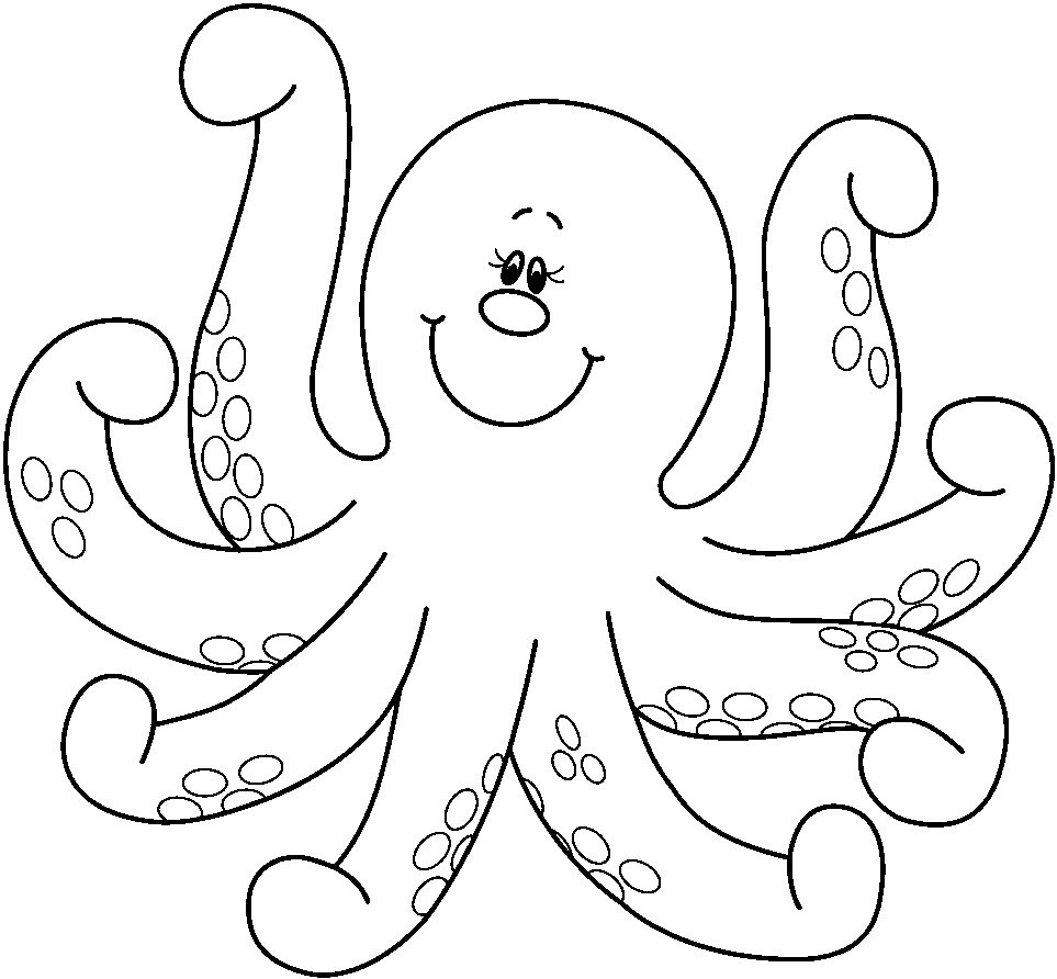 Octopus Coloring Book Pages  Free Printable Octopus Coloring Pages For Kids