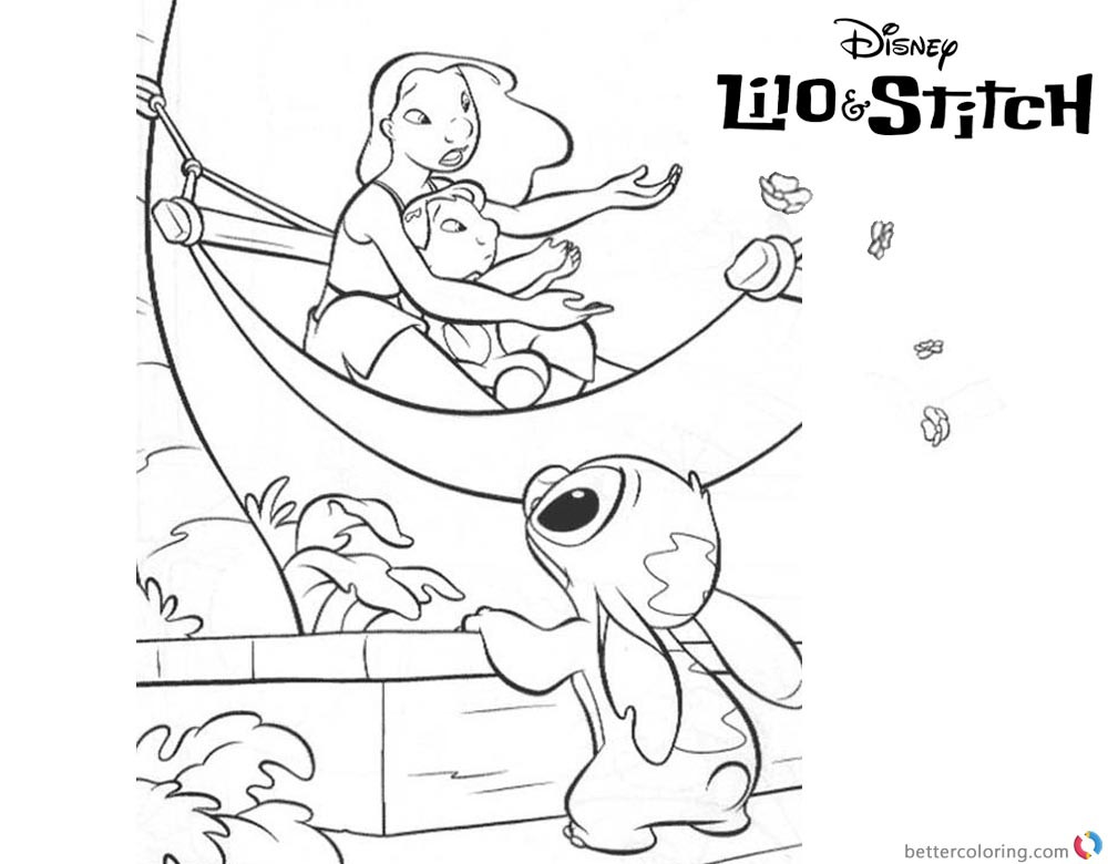 Ohana Coloring Pages  Lilo and Stitch Ohana Coloring Pages A Boat Free