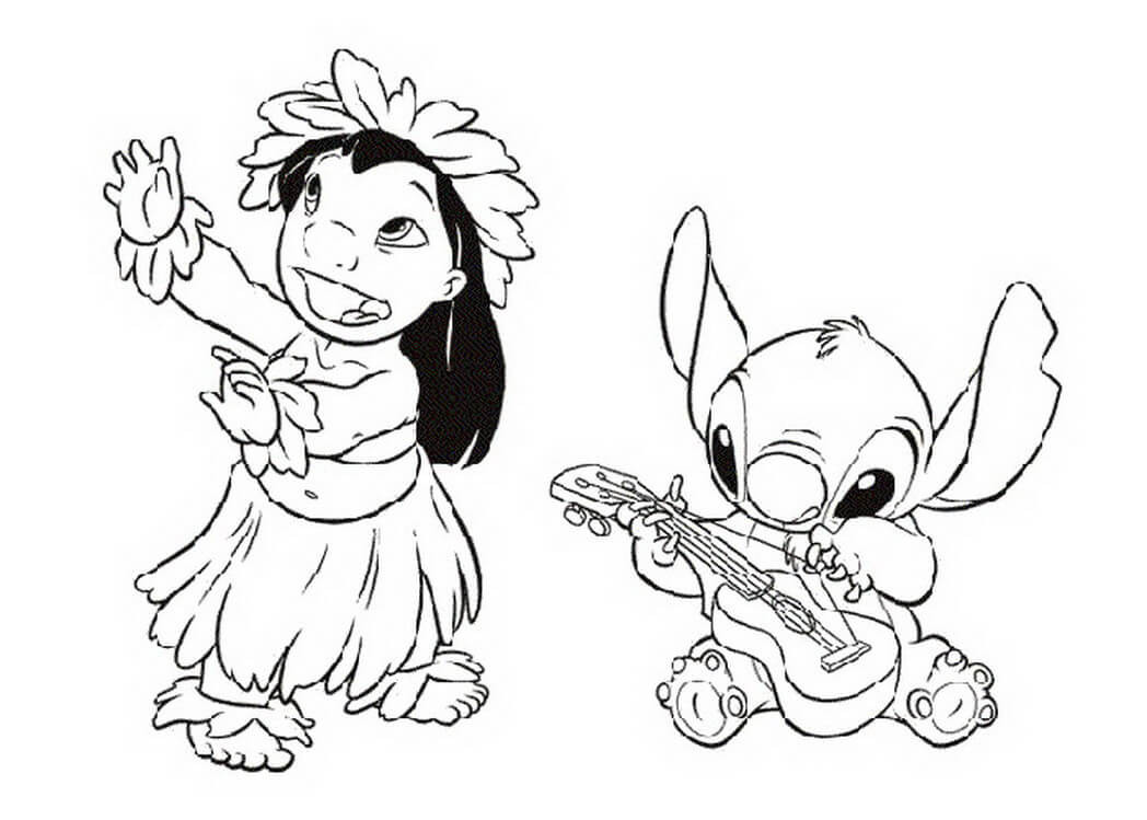 Ohana Coloring Pages  Lilo And Stitch Coloring Pages