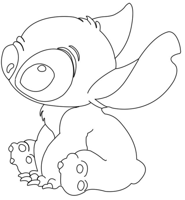 Ohana Coloring Pages  stitch ohana drawing Google Search coloring