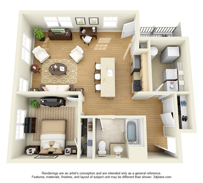 Best ideas about One Bedroom Apartment . Save or Pin The Springs Apartments Roohan Realty Now.