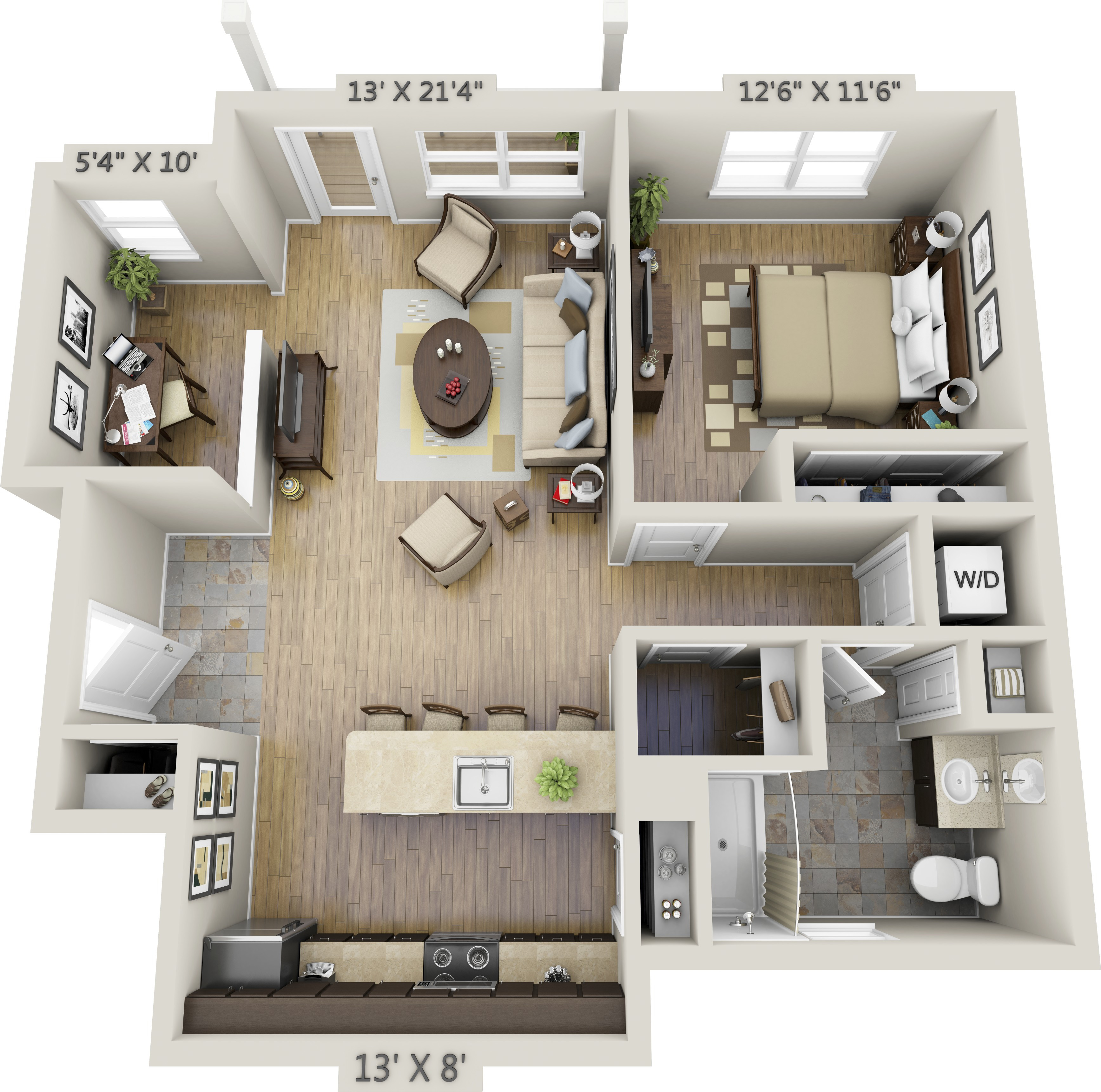 Best ideas about One Bedroom Apartment . Save or Pin e Bedroom Apartments Now.