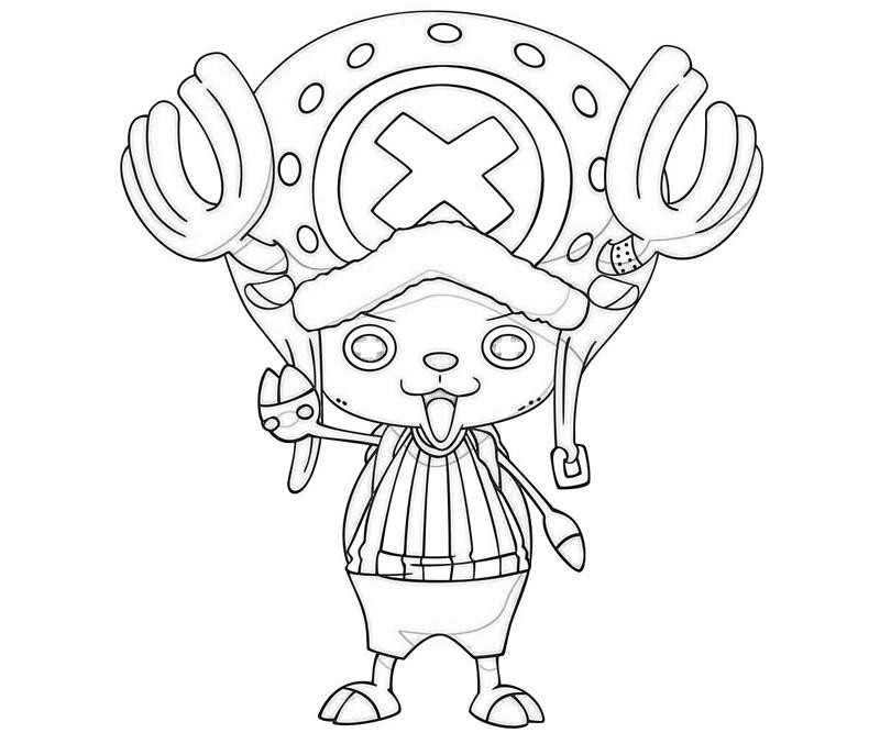 One Piece Coloring Pages  e Piece Tony Tony Chopper Look
