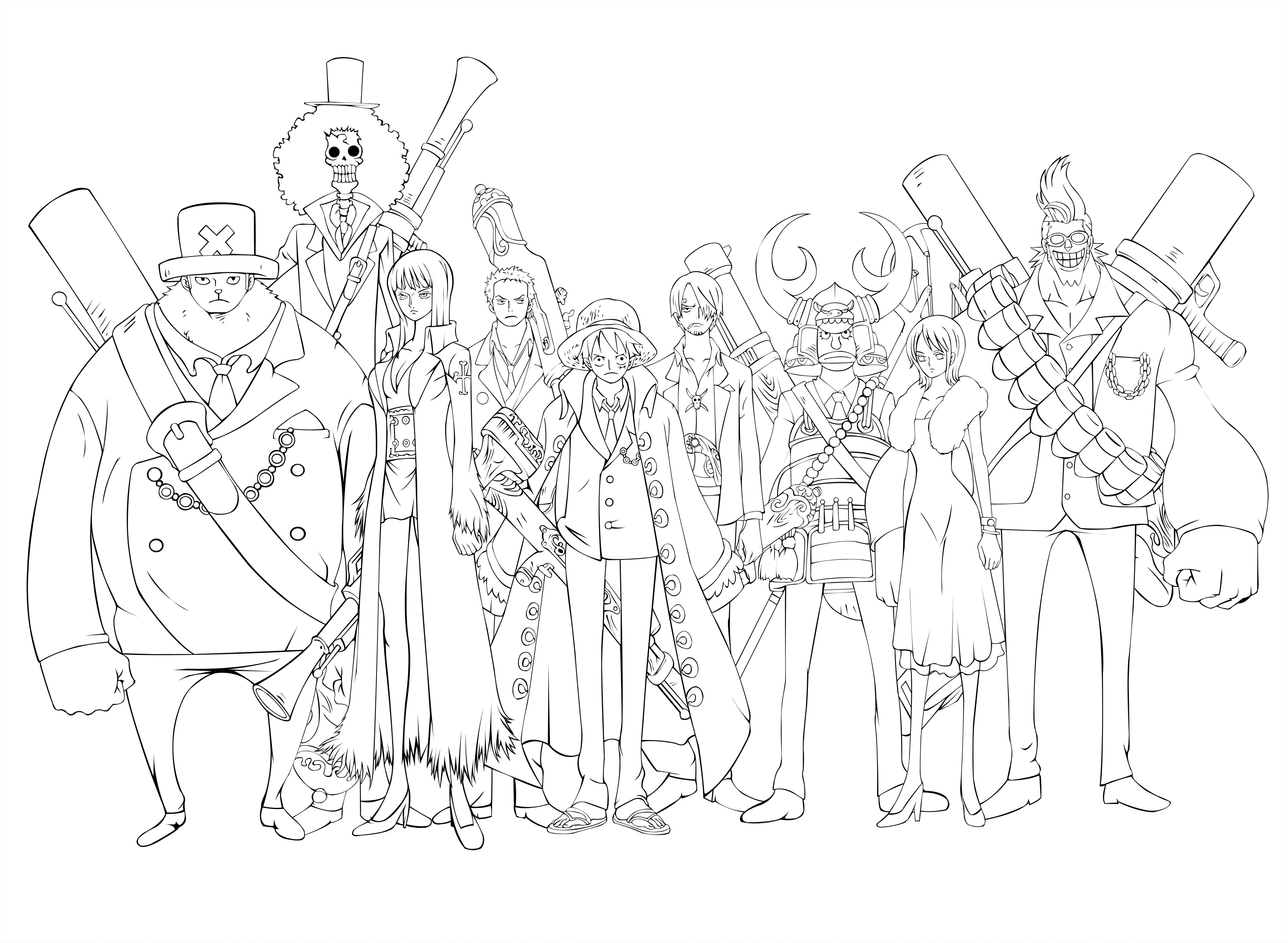One Piece Coloring Pages  e Piece Coloring Pages Sketch Coloring Page