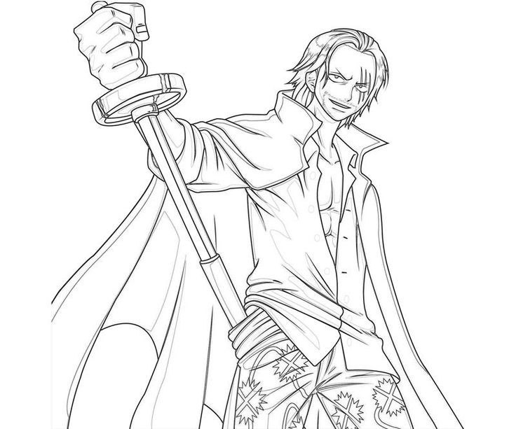 One Piece Coloring Pages  e Piece Shanks Sword Coloring Pages