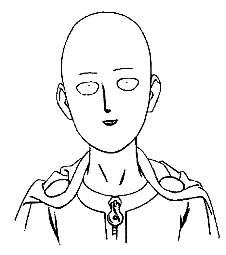 One Punch Man Coloring Pages  Dibujo para colorear e Punch Man e Punch Man Saitama 1