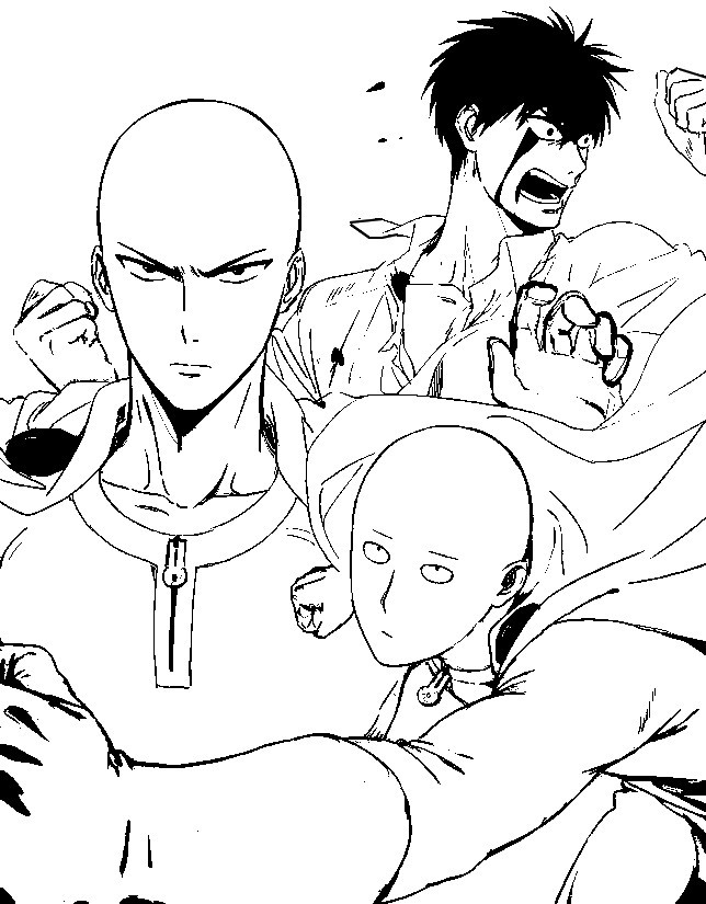 One Punch Man Coloring Pages  Coloring page e Punch Man e Punch Man 3