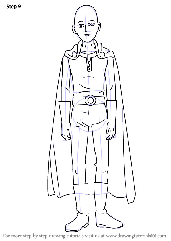 One Punch Man Coloring Pages  Learn How to Draw Saitama from e Punch Man e Punch