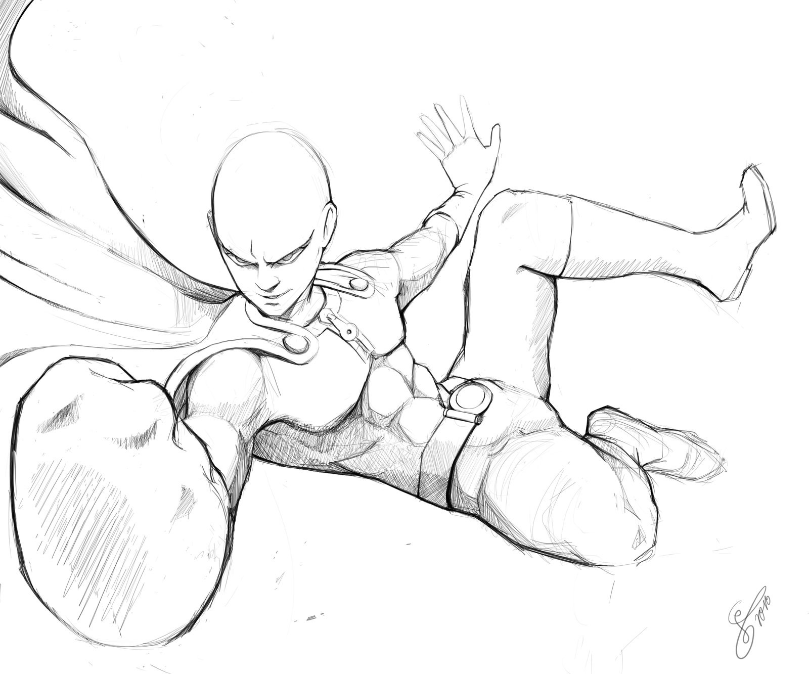One Punch Man Coloring Pages  e Punch Man Coloring Sheets Coloring Pages