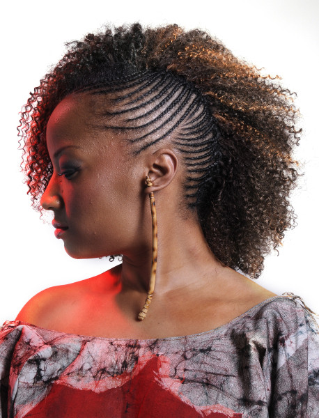One Side Braid Hairstyles  e side cornrows braided hairstyle thirstyroots