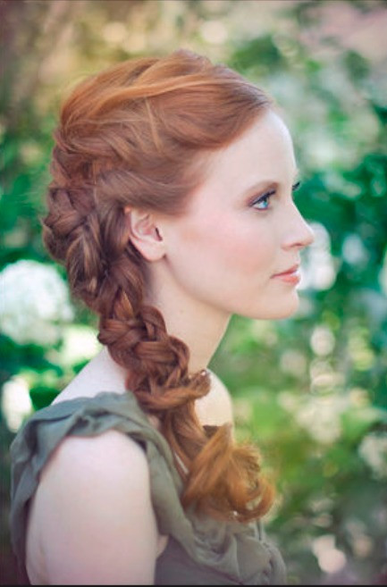 One Side Braid Hairstyles  Simple Updo Hairstyles for your Wedding Day Hair World
