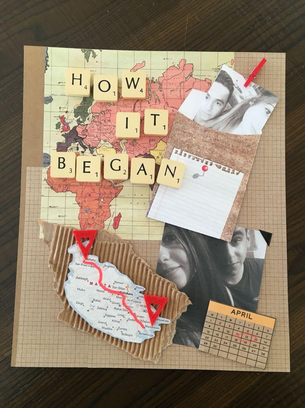 One Year Anniversary Gift Ideas For Boyfriend  Making a scrapbook for our one year anniversary Page one