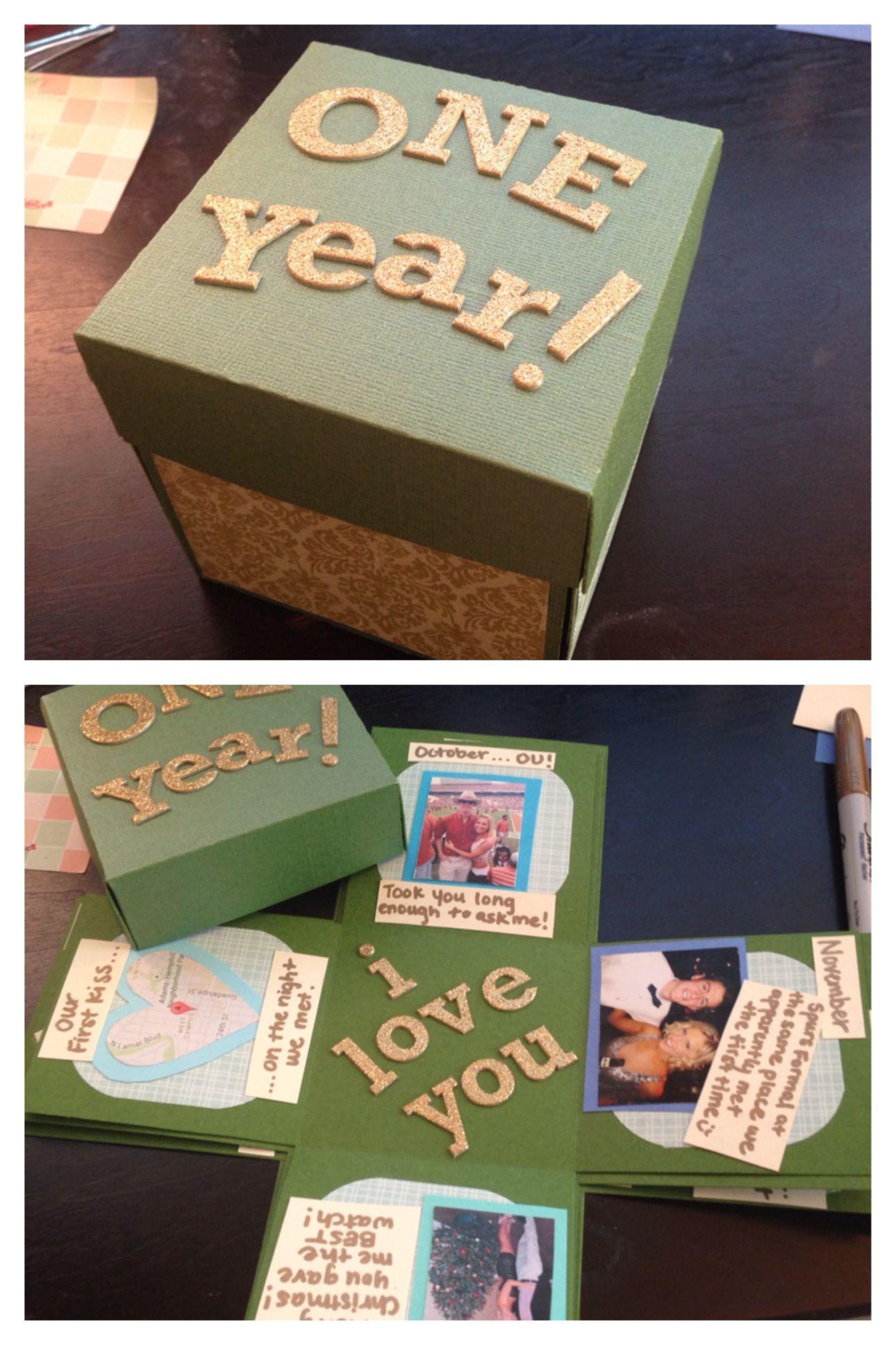 One Year Anniversary Gift Ideas For Boyfriend  Boyfriend Anniversary Gifts on Pinterest