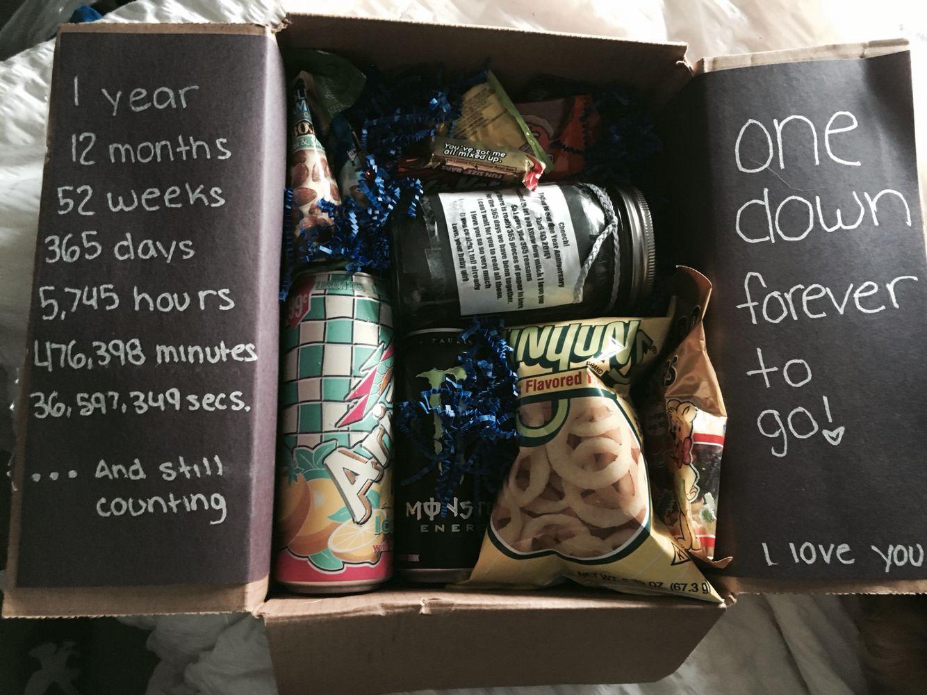 One Year Anniversary Gift Ideas For Boyfriend  e Year Anniversary t idea anniversary boyfriend