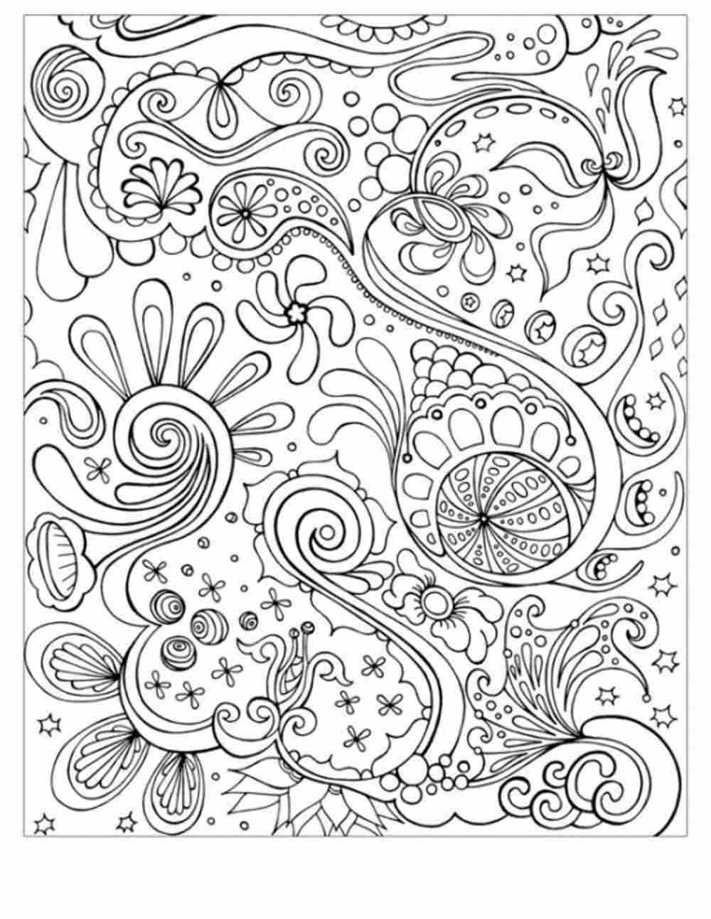 Online Adult Coloring Books  Abstract Coloring Pages For Adults Coloring Home