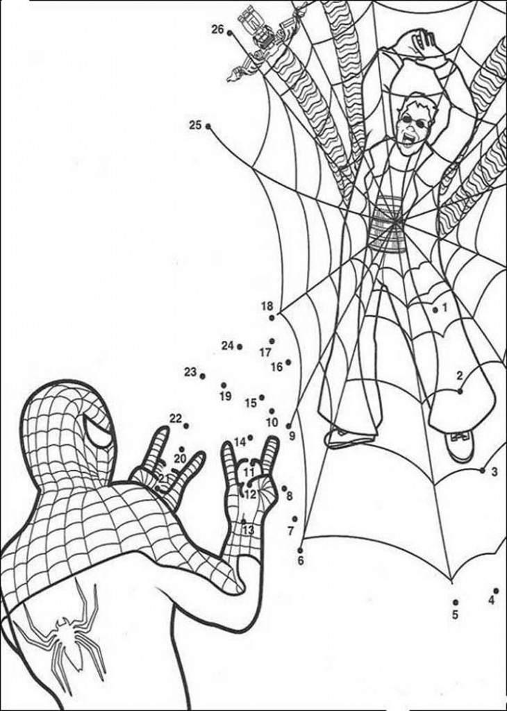 Online Coloring Sheets For Kids  Free Printable Spiderman Coloring Pages For Kids
