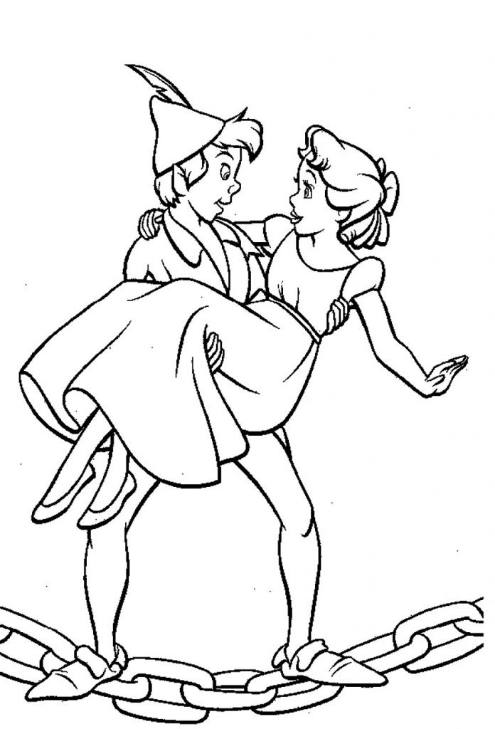 Online Coloring Sheets For Kids  Free Printable Peter Pan Coloring Pages For Kids