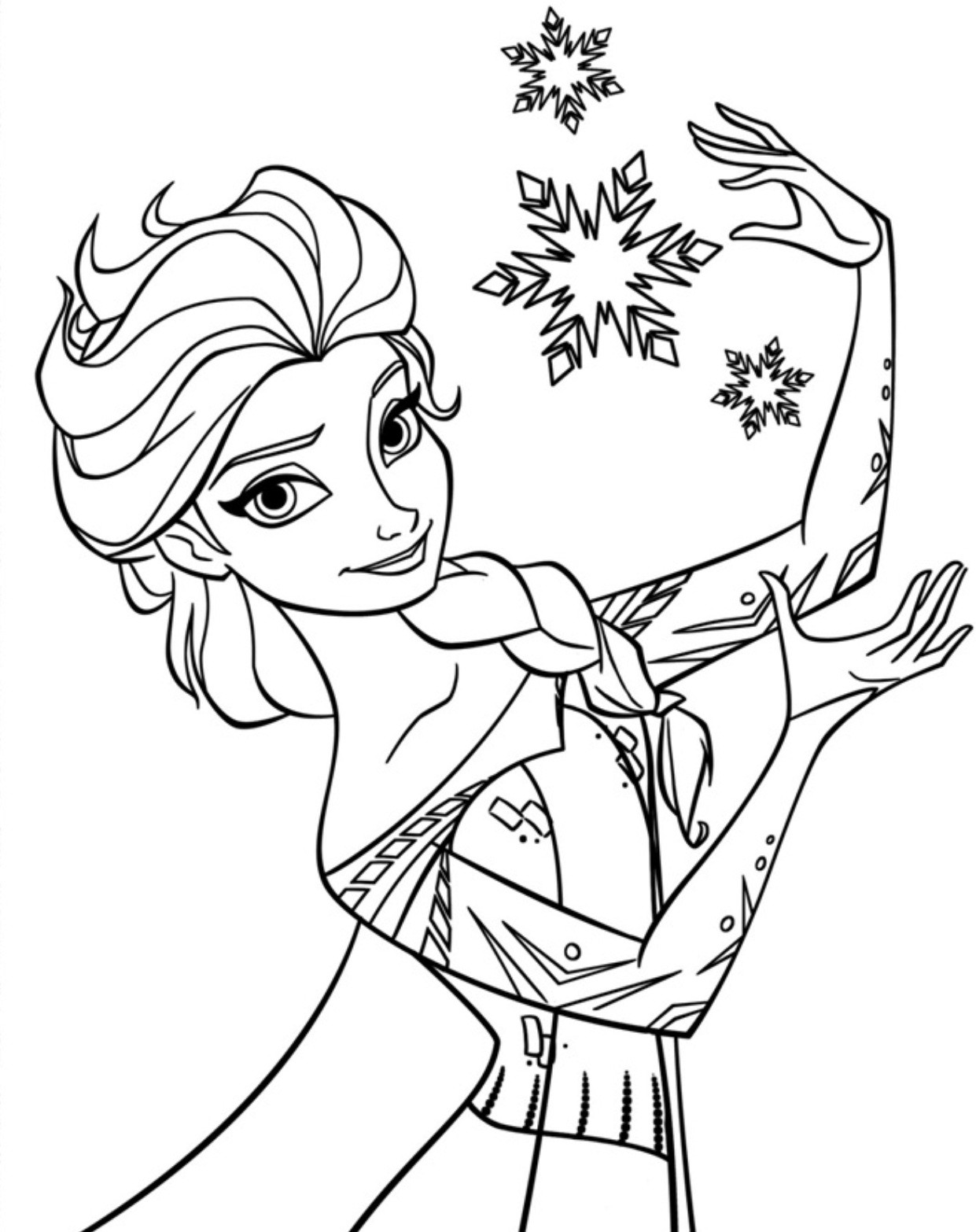 Online Coloring Sheets For Kids  Free Printable Elsa Coloring Pages for Kids Best