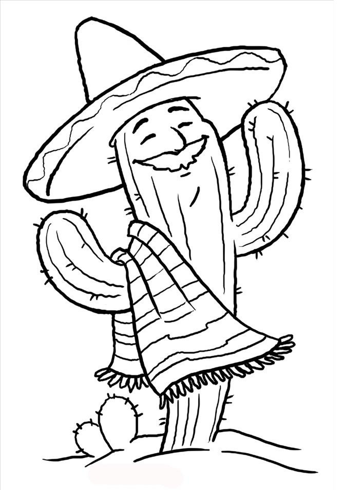 Online Coloring Sheets For Kids  Free Printable Cinco De Mayo Coloring Pages For Kids