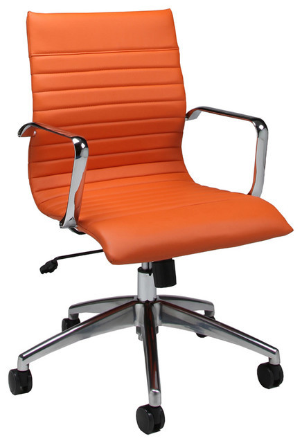 Best ideas about Orange Office Chair . Save or Pin Pastel Janette fice Chair Chrome and Aluminum PU Now.