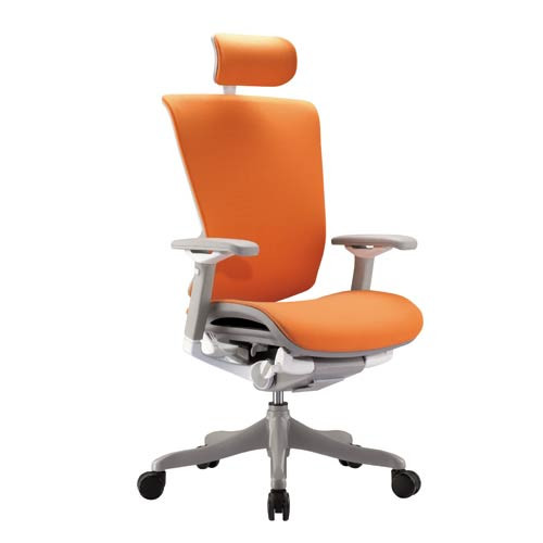 Best ideas about Orange Office Chair . Save or Pin fice chairs headrest ergonomic office chair orange Now.