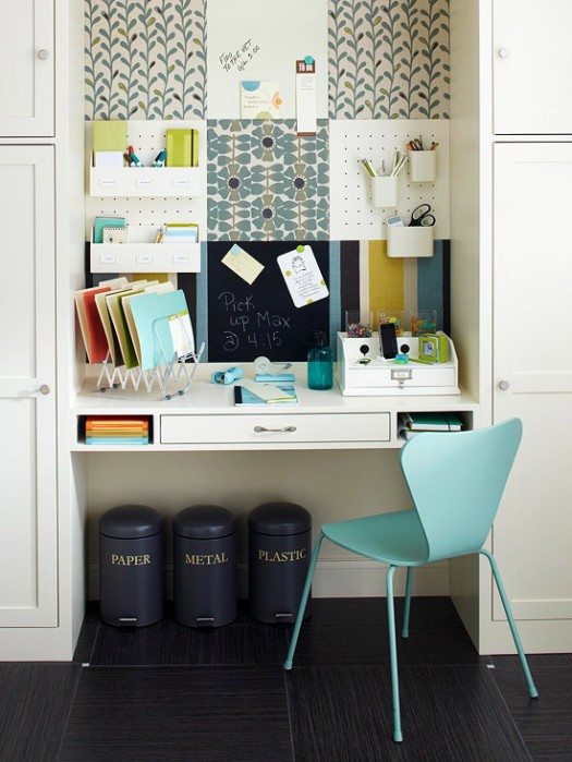 Best ideas about Organizing A Small Office Space . Save or Pin Multi Functional And CUTE mand Center The Inspired Room Now.