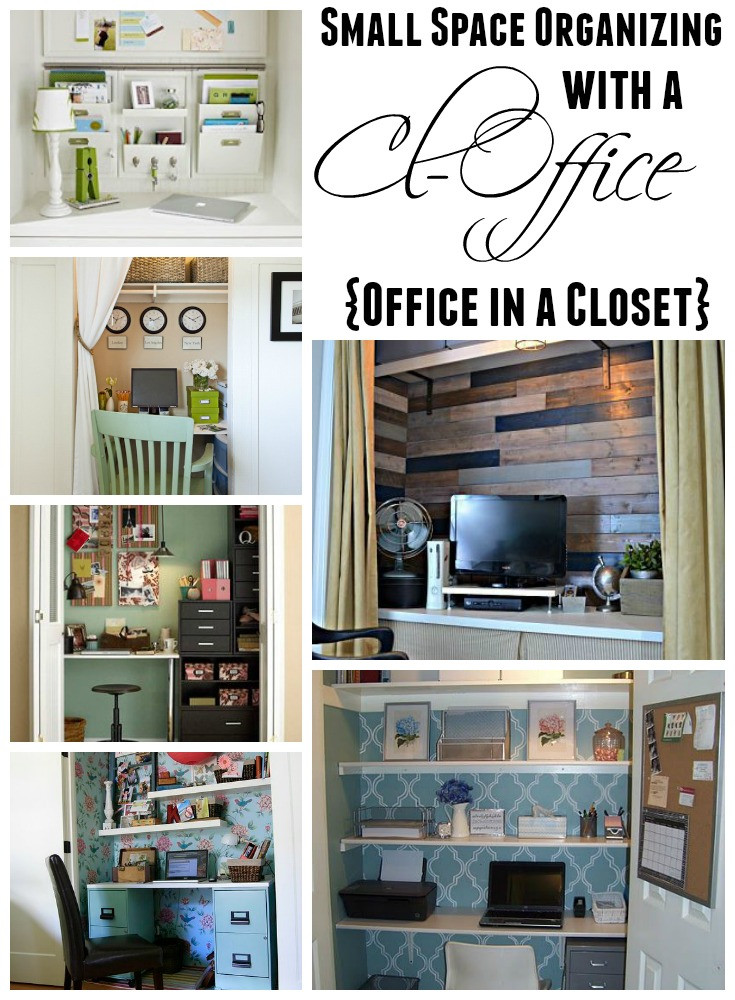Best ideas about Organizing A Small Office Space . Save or Pin Get Organized in a Small Space with a Cloffice fice Now.