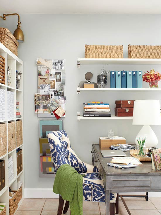 Best ideas about Organizing A Small Office Space . Save or Pin Organizing with Baskets and Containers The Inspired Room Now.