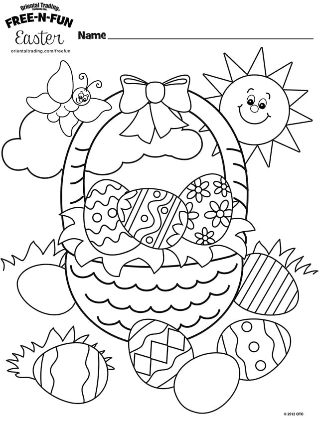 Oriental Trading Coloring Pages  FREE Easter Coloring Pages Happiness is Homemade
