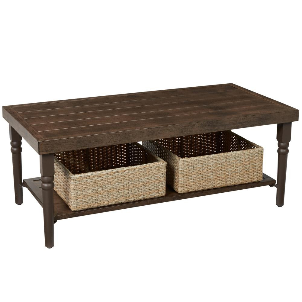 Best ideas about Outdoor Coffee Table . Save or Pin Hampton Bay Lemon Grove Wicker Rectangle Outdoor Coffee Now.