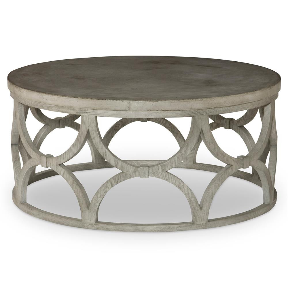 Best ideas about Outdoor Coffee Table . Save or Pin Mara Modern Slate Oak Round Outdoor Coffee Table Now.